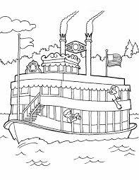 Kleurennu Boot Op Een Rivier Kleurplaten