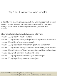 Resume Objectives For Managers