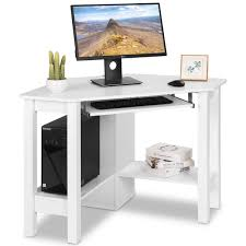 Office study desk Study Nook Costway Wooden Corner Desk With Drawer Computer Pc Table Study Office Room White Rakutencom Costway Costway Wooden Corner Desk With Drawer Computer Pc Table