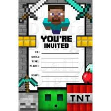 Minecraft Birthday Invitation Template 50 Best Images About