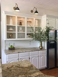 Kitchen Cabinet Sconce Light. Cabinets And Shiplap Wall In Kitchen Is  Benjamin Moore OC