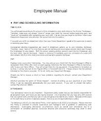 Sample Employee Handbooks Simple Employee Handbook Template