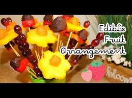 diy dollar tree how to make an edible fruit bouquet arrangement mother s day gift idea