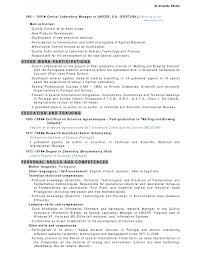 Lab Manager Resume - Dalarcon regarding Laboratory Manager Resume