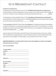Free Gym Membership Contract Template Download Indemnity Form C