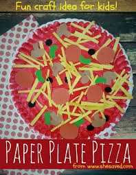 art and craft ideas for toddlers pinterest. looking for a fun craft the kids? this paper plate pizza idea is art and ideas toddlers pinterest h