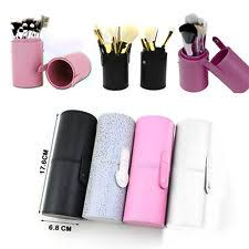 makeup brush cup. travel makeup leather storage brush pen holder cosmetic cup case box fast ship