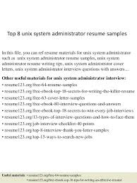 resume system administrator unix engineer resume bitacorita