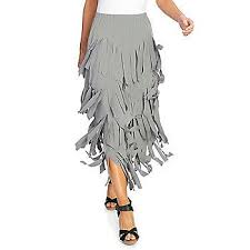Kate And Mallory Size Chart Kate Mallory Stretch Knit Elastic Waist Fringed Tiered