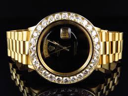 18k yellow gold mens rolex president day date xl diamond bezel 18k yellow gold mens rolex president day date xl diamond bezel watch 7 2 ct