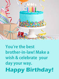 Birthday Cake Cards For Brother In Law Birthday Greeting Cards