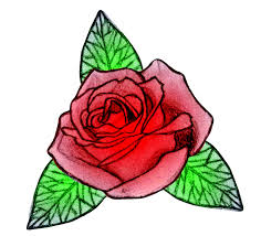 Small Picture Drawn Rose Coloring Page