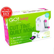 Accuquilt GO! Baby Fabric Cutter Starter Set | Fabric Cutting Machine & Baby Fabric Cutter; GO! Baby Fabric Cutter Starter Set (55600) - packaging  shown (front) ... Adamdwight.com