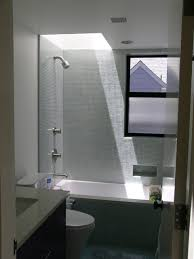 Small bathroom with skylight contemporary-bathroom