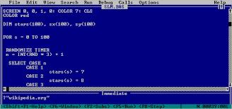 Basic Coding Language Introduction To Qbasic Petes Qbasic Quickbasic Site