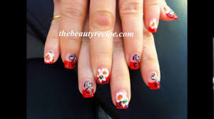 Nail art design for chinese new year - YouTube