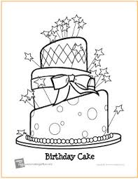 Small Picture Birthday Cake Free Printable Coloring Page