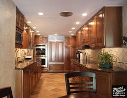 the very best of kraftmaid kitchen designs mesmerizing rich brown kraftmaid cabinetry in corridor kitchen