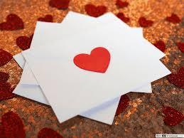 hearts love letter hd wallpaper