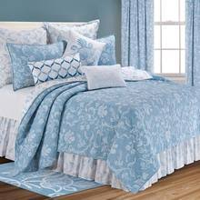 Williamsburg Bedding - Paul's Home Fashions & Eliza Lace Blue Quilt Collection Adamdwight.com