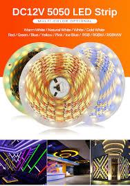 Đèn LED dây dán 12v RGB5050 60P 10mm siêu sáng cao cấp TLD-12V-60P