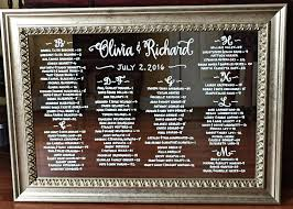 Mirror Wedding Seating Chart Wedding Calligraphy Mirror Seating Chart Just Write Studios