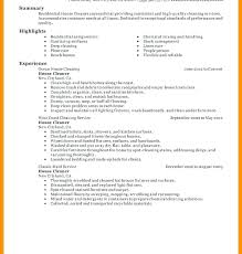 Cv For Cleaning Job Sample Resume For Cleaning Job Blaisewashere Com