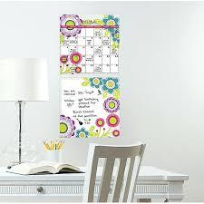 dry erase wall decal calendar poppy flower dry erase calendar and board set removable wall decals