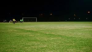 green grass football field. Athletes, Field, Football, Football Game, Goal, Grass, Grass Grassland, Grassy, Green, Green Ground, Lawn, Lights, Men, Night, Field O