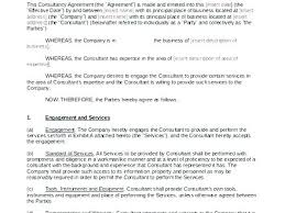 Consulting Contract Template Free Sample Consultant Reement Template