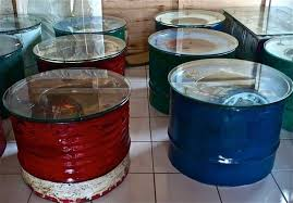 what to do with 55 gallon drums make some funiture out of them