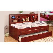 World Furniture Merlot Twin Size Bookcase Day Bed