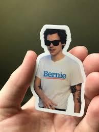 Harries For Bernie Sticker Bernie Sanders Harry Styles   Etsy
