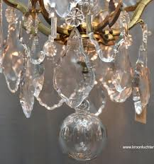 french crystal chandelier ref french crystal chandelier with candles and light fittings in the style of