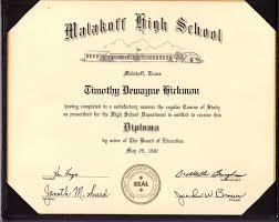 Tim Hickmon High School Diploma
