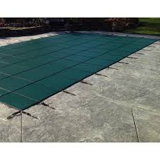 safety pool covers. Rectangle Green Solid In-Ground Safety Pool Covers