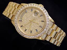 rolex mens gold day date president 18038 for beckertime rolex 18k yellow gold day date president 18038 full diamond 6