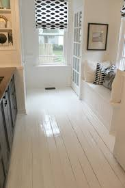 White Painted Floor....High Gloss Simple and clean
