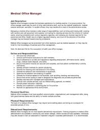 Medical Office Administration Duties 48 Useful Office Manager Duties Resume Cs E4353 Resume Samples