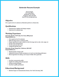 Server Bartender Resume Awesome Server Bartender Resume Transvente Com