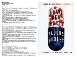 brave new world study guide gradesaver essay questions for brave new world