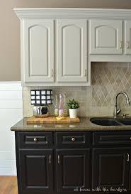 painted kitchen cabinets builder grade updates