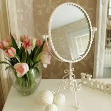 cream shabby chic style vanity mirror