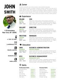 Find the Green Creative Resume Template on www.cvfolio.com