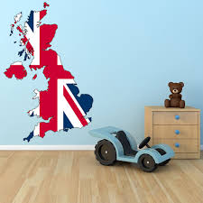 on removable wall art stickers uk with atws3 uk map with union jack removable wall sticker
