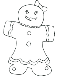 Christmas Coloring Pages Gingerbread Girl Creativeinfotechinfo