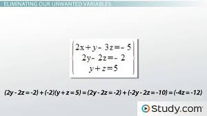solving simultaneous linear equations lesson transcript study com