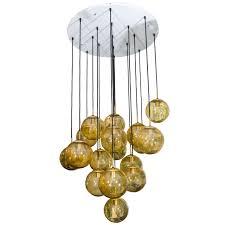 Glass Globe Chandelier by Limburg Glashtte, Germany For Sale