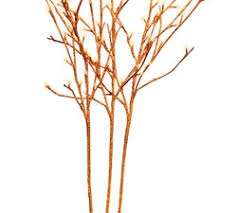 decor bana home decors gifts stem orange glitter twig lights l