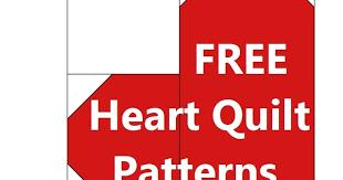 free heart quilt patterns
